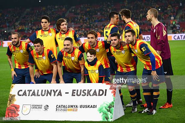 Catalonia team during the match between Catalonia and Euskadi played at the Camp Nou on december 26 2015