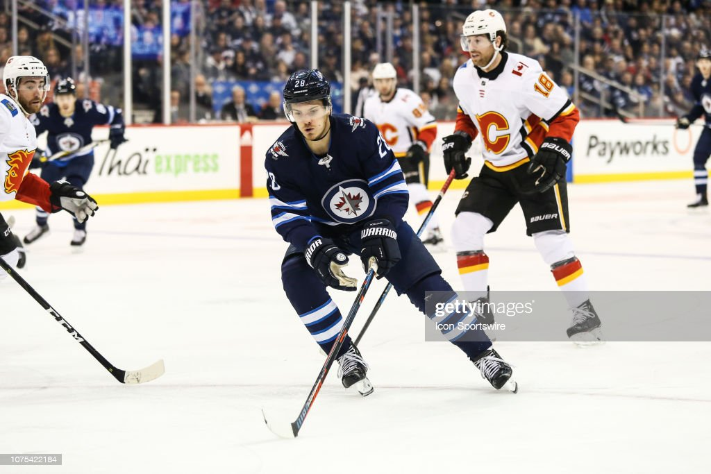 NHL: DEC 27 Flames at Jets : News Photo