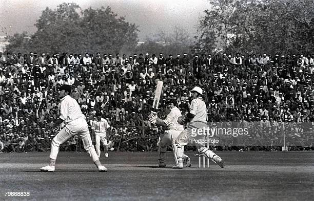 December 27th Sport Cricket England's Tony Lewis batting during the India v England First Test at New Delhi