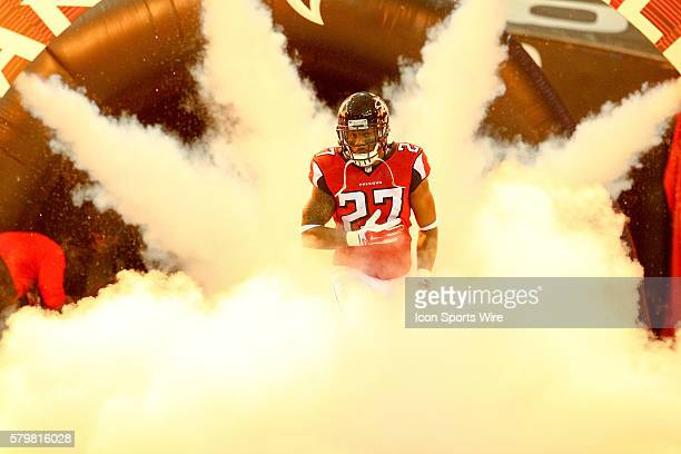 December 28 2014 Atlanta Falcons cornerback Robert McClain is introduced before the game between the Carolina Panthers and the Atlanta Falcons The...
