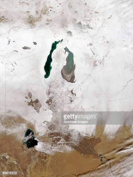 December 29, 2008 - Snow around the Aral Sea