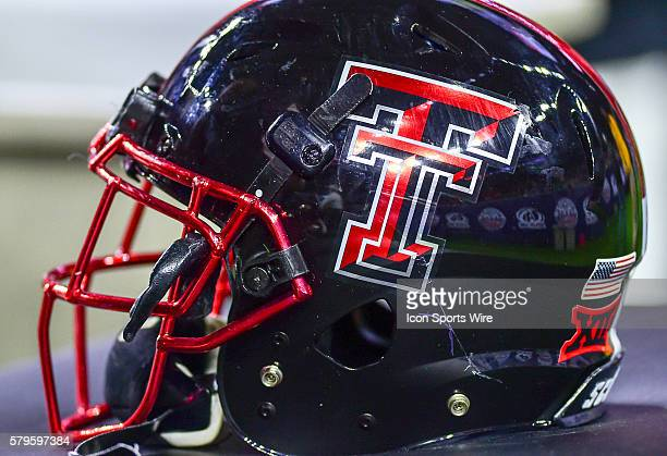 Texas Tech helmet during the 2015 Advocare Texas Bowl featuring the LSU Tigers vs Texas Tech Red Raiders at NRG Stadium Houston Texas