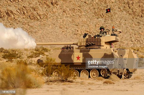 December 3, 2010 - U.S. Army soldier trains with the M113 armored personnel carrier at the National Training Center in Ft. Irwin, California.