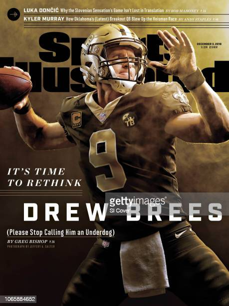 December 3 2018 Sports Illustrated Cover Portrait of New Orleans Saints QB Drew Brees during photo shoot at Ochsner Sports Performance Center...