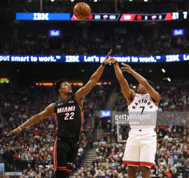 December 3 In the first half, Toronto Raptors guard Kyle Lowry takes a shot around Miami Heat forward Jimmy Butler The Toronto Raptors took on the...
