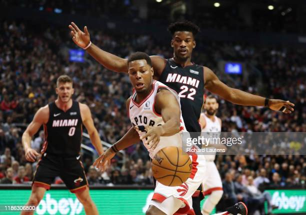 December 3 In the first half, Toronto Raptors guard Kyle Lowry works his way around Miami Heat forward Jimmy Butler into the key. The Toronto Raptors...