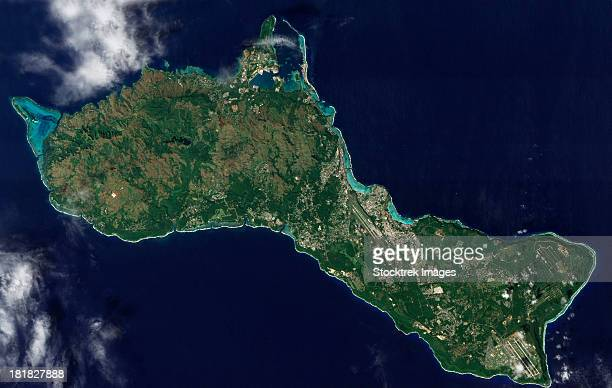December 30, 2011 - Satellite view of the island of Guam.