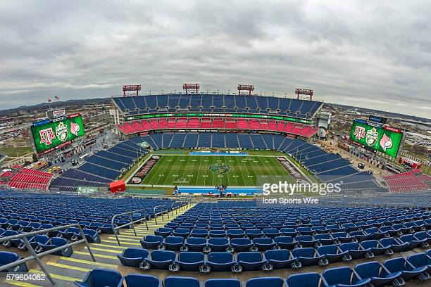 View of and empty Nissan Stadium prior to the start of the Franklin American Mortgage Music City Bowl at Nissan Stadium in Nashville TN