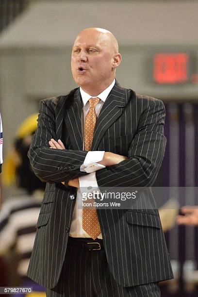 East Carolina head coach Jeff Lebo in the second half of a game between the Tulane Green Wave and the East Carolina Pirates at Minges Coliseum in...
