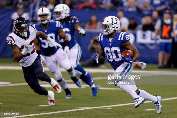 Indianapolis Colts wide receiver Chester Rogers during an NFL football game between the Houston Texans and the Indianapolis Colts on December 31 at...