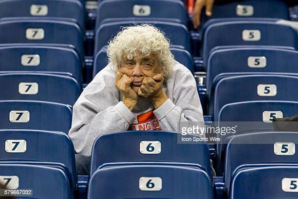 A Bowling Green fan reacts to the action on the field during game action between the Northern Illinois Huskies and the Bowling Green Falcons in the...