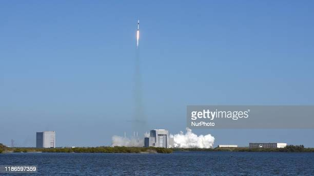 December 5, 2019 - Cape Canaveral, Florida, United States - A SpaceX Falcon 9 rocket carrying a Dragon cargo capsule with supplies for the...