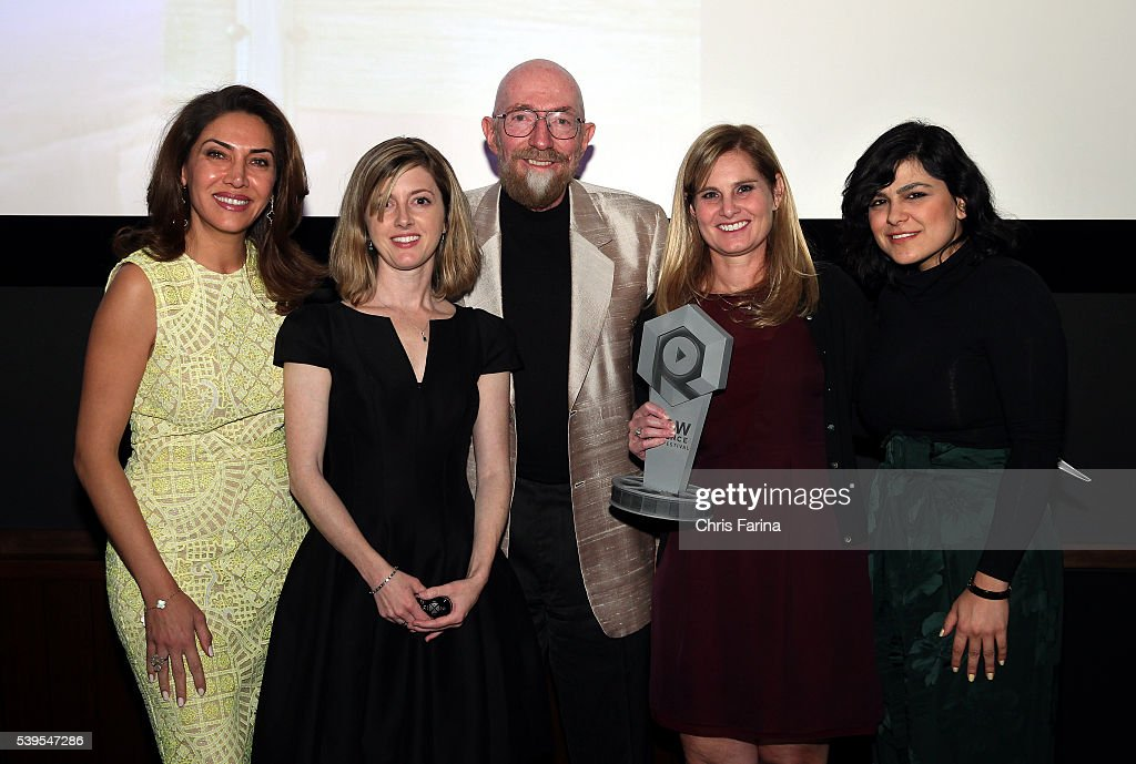 December 5, 2015, Los Angeles,Calif. --- Kip Throne(ctr), Theoretical physicist and Executive Producer for Interstellar poses with Recipient of 'The Kip Thorne Gravity Award : Dr. Lizabeth Fogel (2nd-R), Director of Education, Walt Disney Company, (L-R) Susan Akbarpour, Co-Founder & CEO Mavatar, Keri Kukral, Co-Founder & CEO Raw Science TV and Azam Shaghaghi, CEO & President STS Canada during the 2nd Annual Raw Science Film Festival. --- Christopher Farina