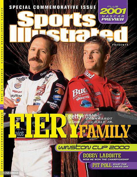 December 6 2000 Sports Illustrated Presents CoverAuto Racing NASCAR Portrait of Dale Earnhardt Sr and Dale Earnhardt Jr during photo shoot...