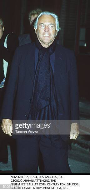 December 7 1994 Georgio Armani Arriving At The Fire Ice Partyat 20Th Century Fox Studios In Los Angeles