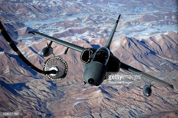 december 7, 2009 - an italian amx approaches a kc-10a extender to refuel over afghanistan. - italian military stock pictures, royalty-free photos & images
