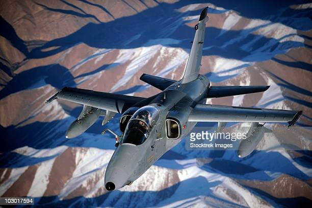 december 7, 2009 - an italian amx disconnects from a kc-10a extender after refueling over afghanistan. - italian military stock pictures, royalty-free photos & images