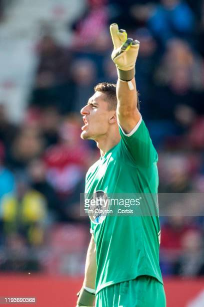 Goalkeeper Ander Cantero of Lugo during the Girona V Lugo La Liga second division regular season match at Municipal de Montilivi on December 8th 2019...