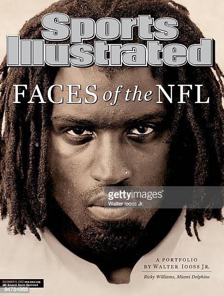 December 9 2002 Sports Illustrated Cover Football Closeup portrait of Miami Dolphins Ricky Williams during photo shoot Miami FL 10/6/2002 CREDIT...