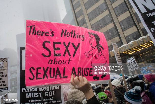 December 9, 2017]: Protest sign that says THERE's NOTHING SEXY about SEXUAL ABUSE at #METOO rally on December 9, 2017 in New York City.