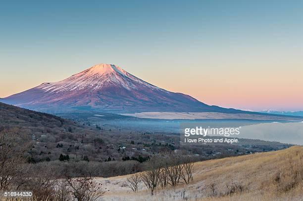 december morning fuji - fuji hakone izu national park stock photos and pictures