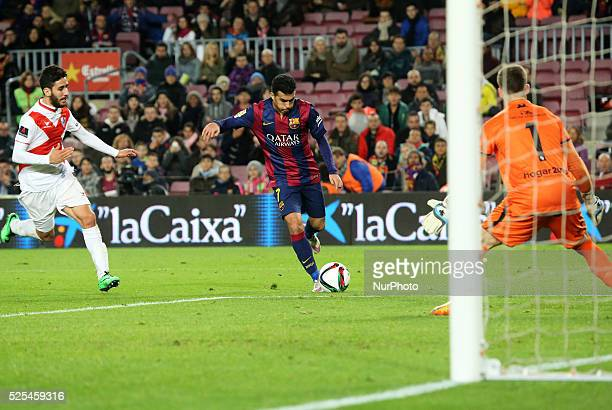 Pedro Rodriguez goal in the match between FC Barcelona and SD Huesca corresponding to the turn of the fourth round of the spanish Copa del Rey match...