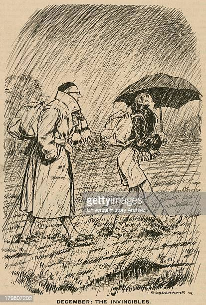 The Invincibles Dedicated rambers undaunted by rain and mud Cartoon from ''Punch@@ London 1932