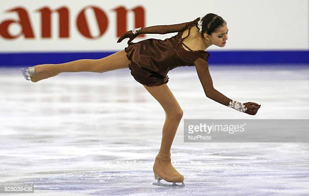 Evgenia Medvedeva in the junior ladies free stating ISU Grand Prix in Barcelona held at the Forum in Barcelona on12 december 2014 Photo Joan Valls /...