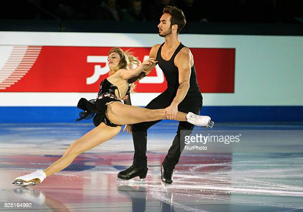 Gabriella Papadakis and Gillaume Cizeron in the gala exhibition of the ISU Grand Prix in Barcelona held at the Forum in Barcelona on 13 december 2014...