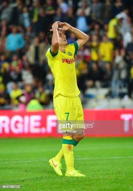Deception Alejandro BEDOYA Nantes / Monaco 3e journee Ligue 1 Photo Dave Winter / Icon Sport