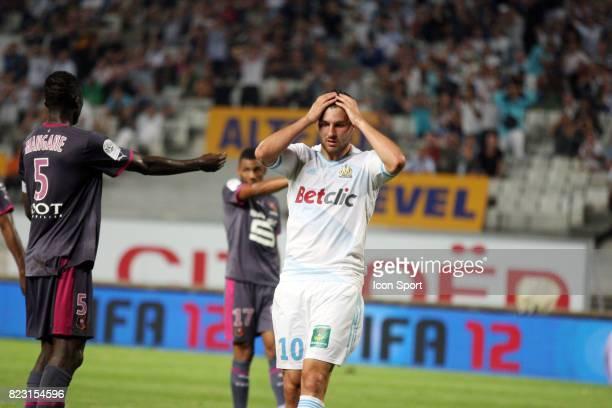 Deception Andre Pierre GIGNAC MArseille / Rennes 5eme journee de Ligue 1