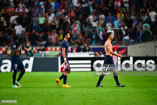 Deception Blaise MATUIDI / Javier PASTORE / Thiago MOTTA Ajax Amsterdam / Paris Saint Germain Champions League Photo Dave Winter / Icon Sport