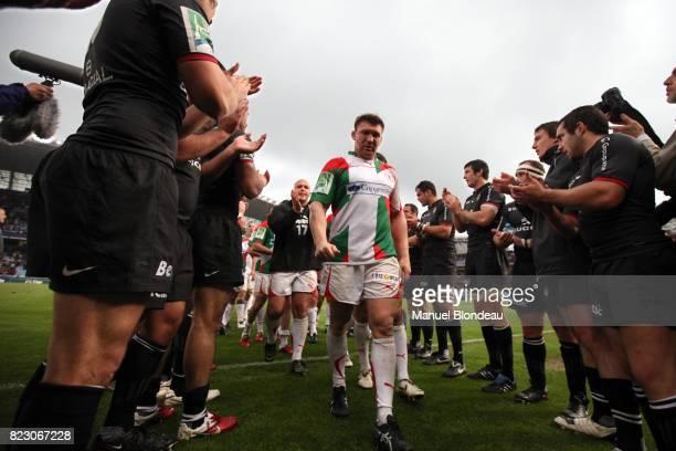 deception de Romain Terrain / Haie d'honneur de Toulouse Biarritz / Toulouse 1/4 de Finale Heineken Cup Stade Anoeta