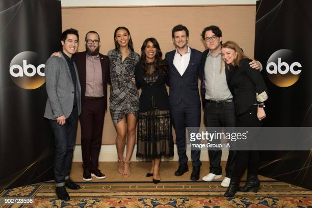 TOUR 2018 'Deception' Session The cast and executive producers of 'Deception' addressed the press at Disney | ABC Television Group's Winter Press...