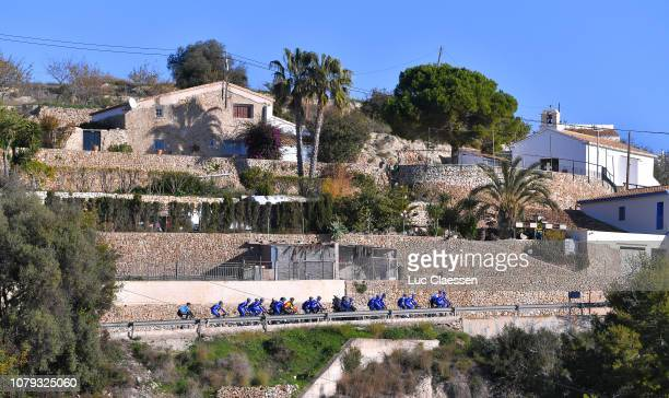 Deceuninck - Quick-Step Team of Belgium / Training / Calpe / Peloton / Landscape / during the Deceuninck - Quick-Step Team Presentation, on January...