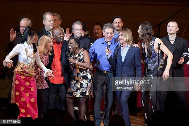 Dechen ShakDagsay Basia Bulat Foday Musa Suso Sharon Jones Philip Glass Iggy Pop Eugene Hutz and Pasha Newmer perform onstage at the 26th Annual...