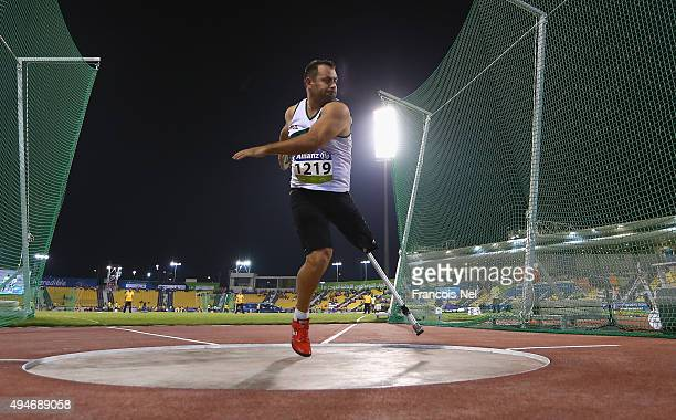 Dechko Ovcharov of Bulgaria competes in the men's discus F42 final during the Evening Session on Day Seven of the IPC Athletics World Championships...