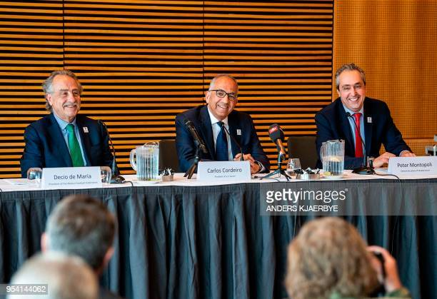 Decio de Maria President of the Football Association of Mexico Carlos Cordeiro President of the United States Football Association and Peter...