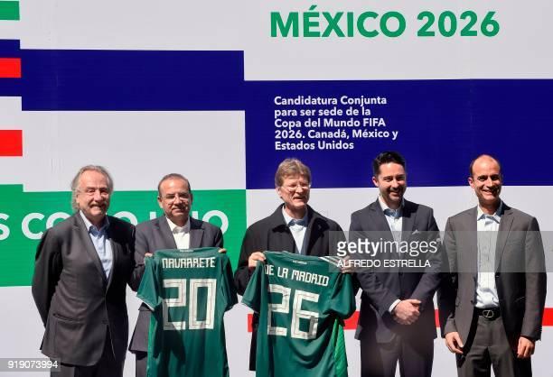 Decio de Maria president of the Mexican Football Federation Mexican Interior minister Alfonso Navarrete Mexican Tourism minister Enrique de la Madrid...