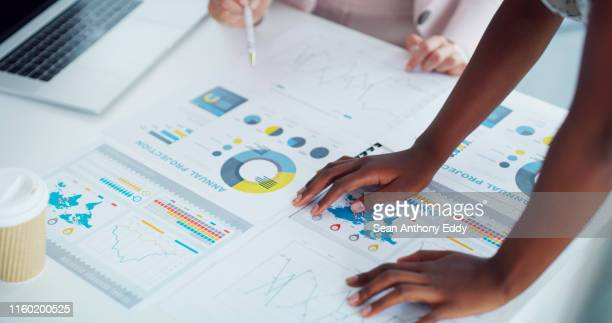 deciphering some business data - report document stock pictures, royalty-free photos & images
