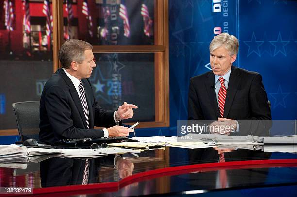 Brian Williams Anchor é·NBC Nightly Newsé· David Gregory Moderator é·Meet the Pressé· during Decision 2010 on November 2 2010