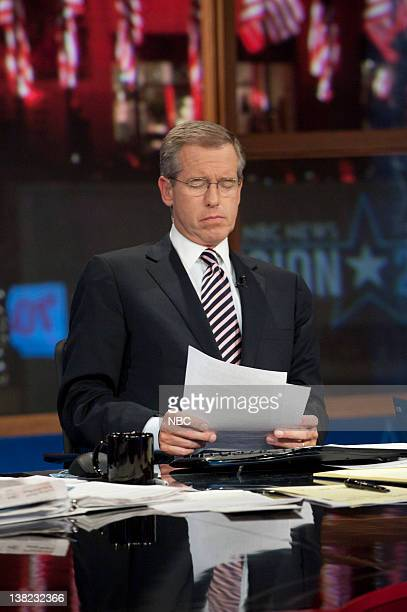 Brian Williams Anchor é·NBC Nightly Newsé· during Decision 2010 on November 2 2010