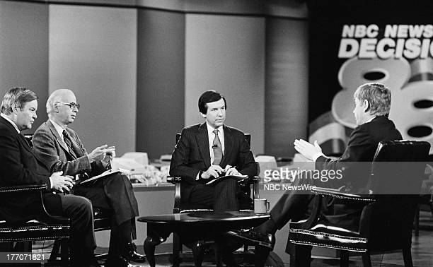 PRESS Decision '88 New Hampshire Primary Pictured The New York Times' RW Apple Jr Washington Posts' David Broder moderator NBC News' Chris Wallace...