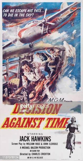 Decision Against Time poster US poster art center Jack Hawkins bottom right Elizabeth Sellars 1957
