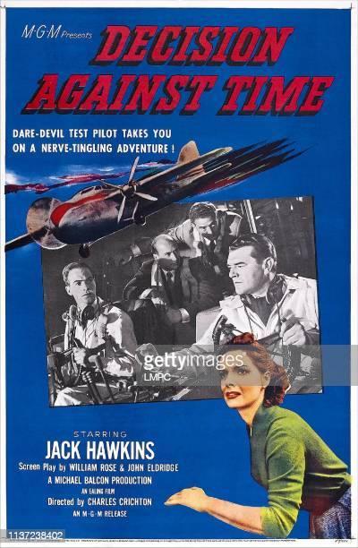 Decision Against Time poster US poster insert right Jack Hawkins bottom Elizabeth Sellars 1957