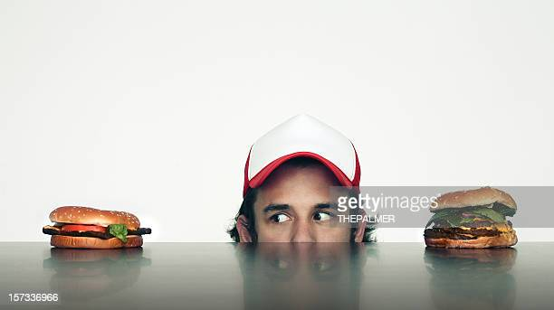 decision making - trucker's hat stock pictures, royalty-free photos & images