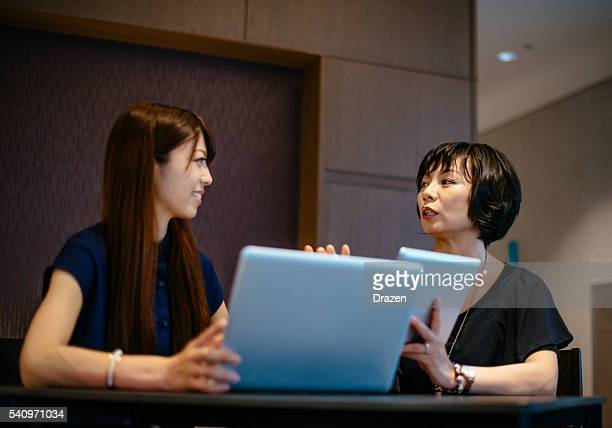 decision making process in modern corporation with female leaders - mission statement stock photos and pictures
