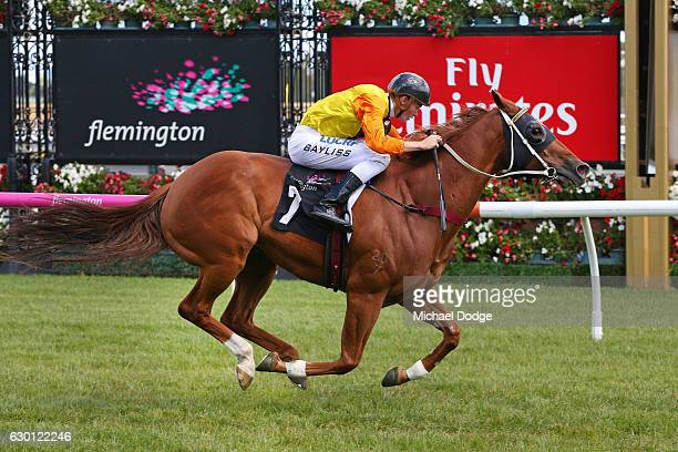 Decision Time ridden by Regan Bayliss wins Fiesta Star Handicap at Flemington Racecourse on December 17 2016 in Flemington Australia