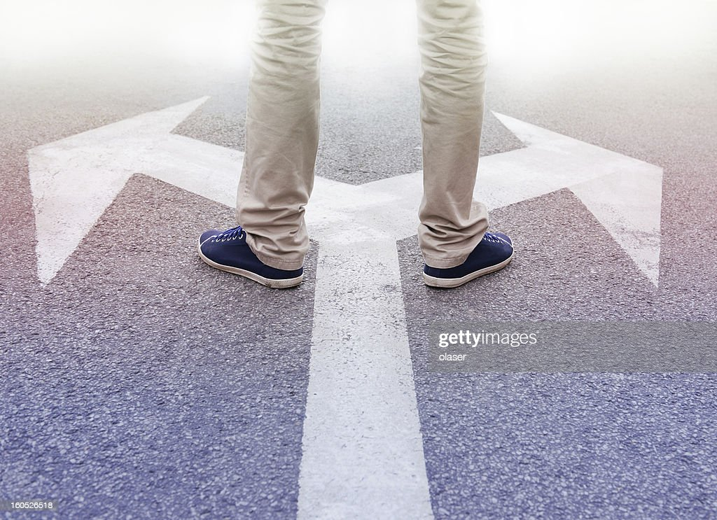 Decisions about the future : Stock Photo