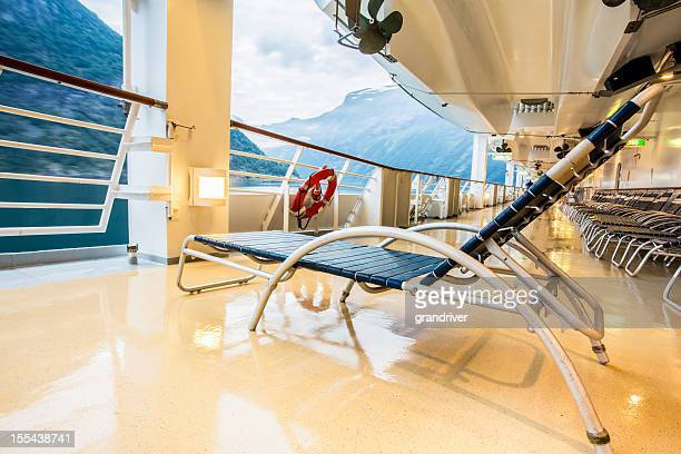 Deck Chair on a Cruise Ship